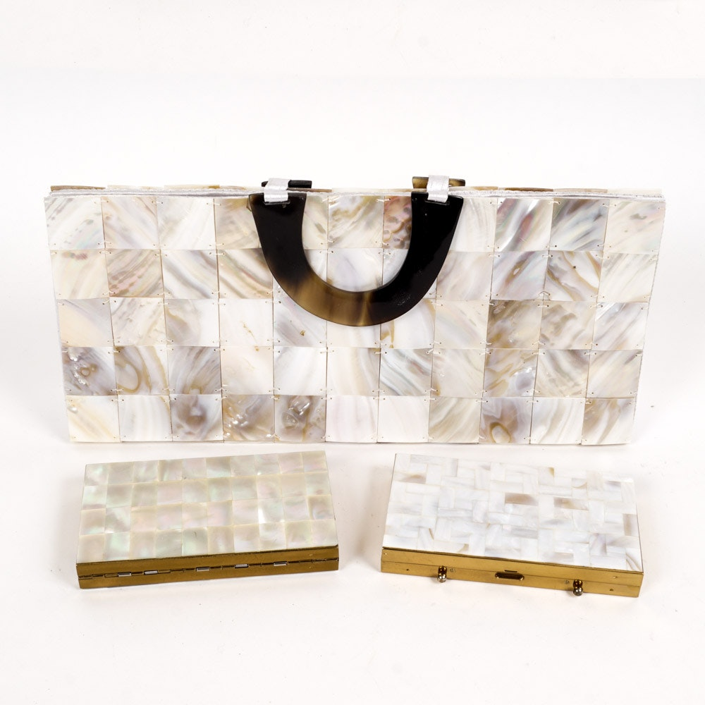 Mother of Pearl Handbag and Accessories