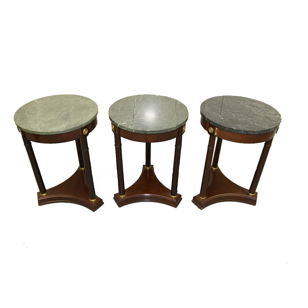 Set of Three Regency Style Accent Tables by The Bombay Company
