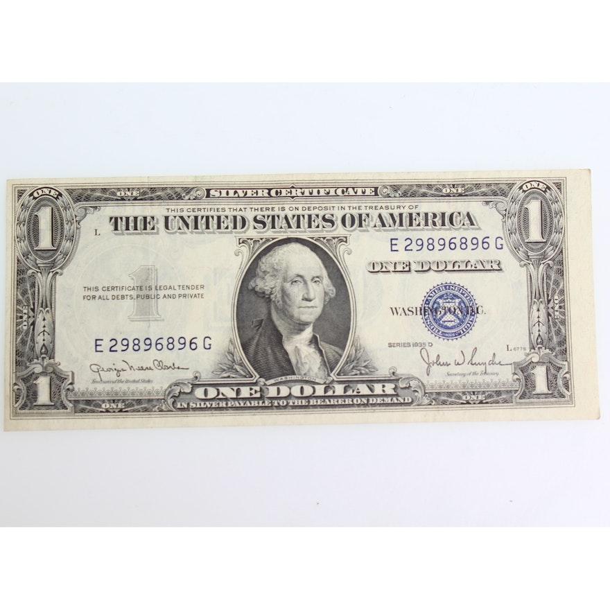 Series 1935 D Silver Certificate : EBTH