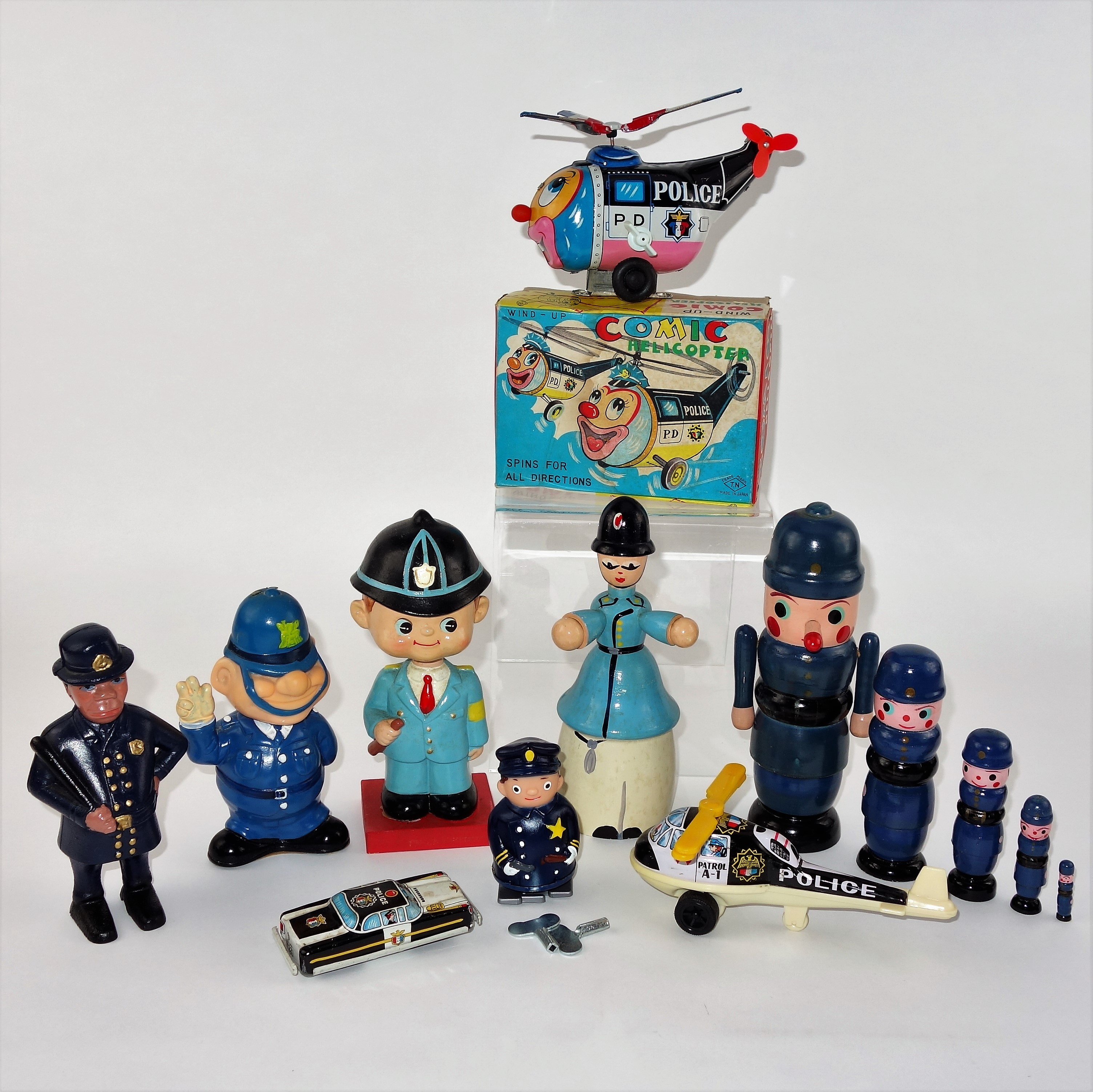 Vintage Toy Police Collection