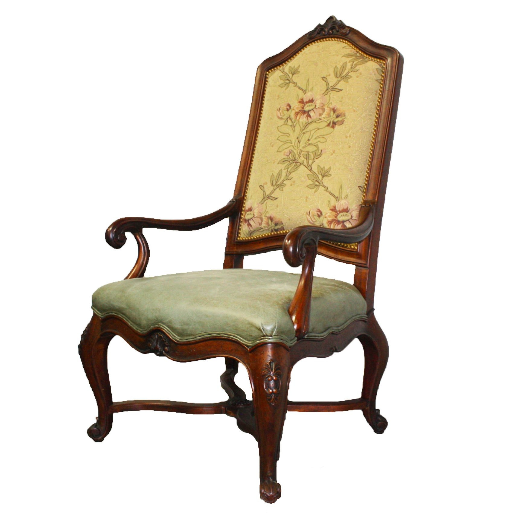 Vintage Queen Anne Style Arm Chair
