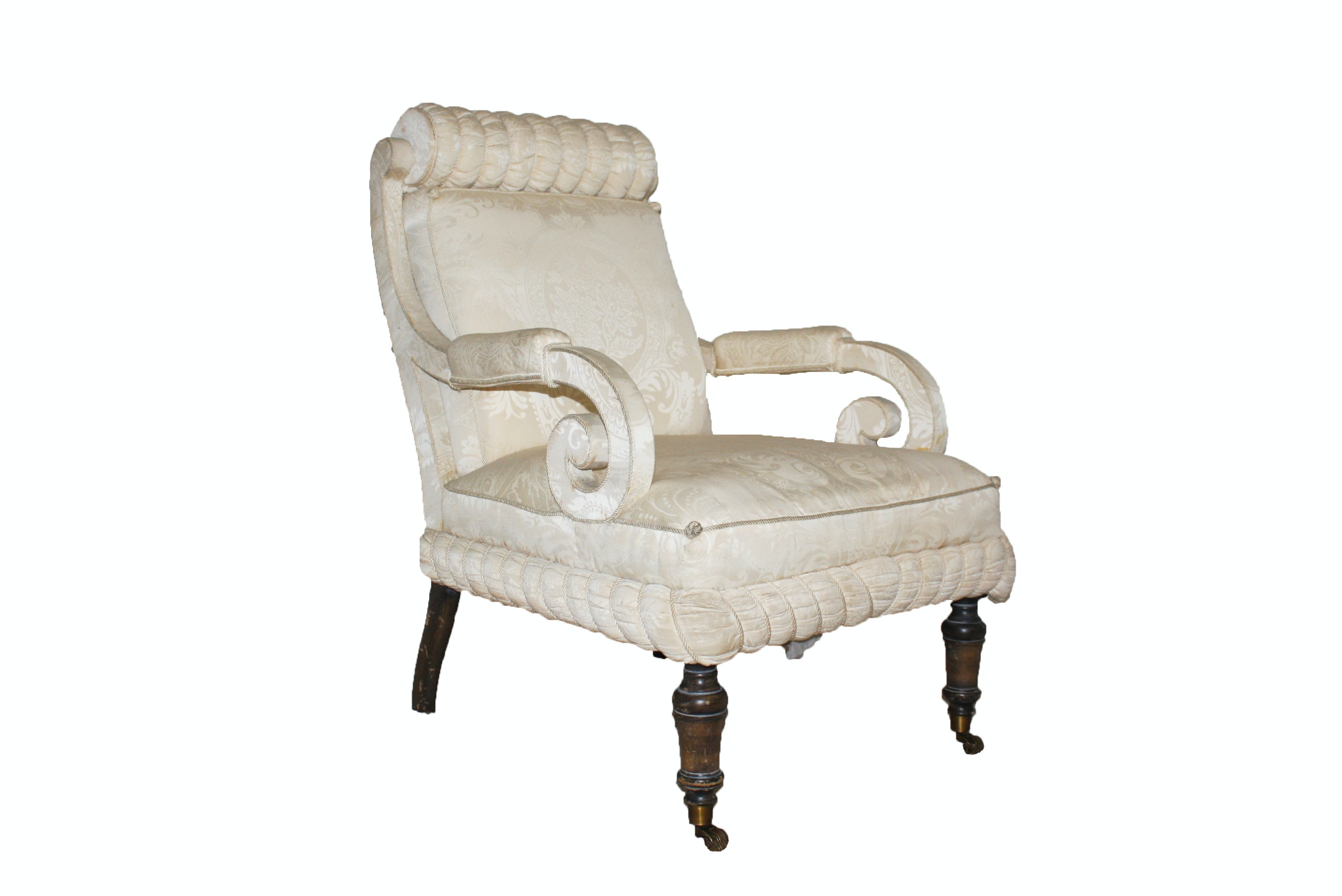 Regency Style Upholstered Armchair by Interior Crafts