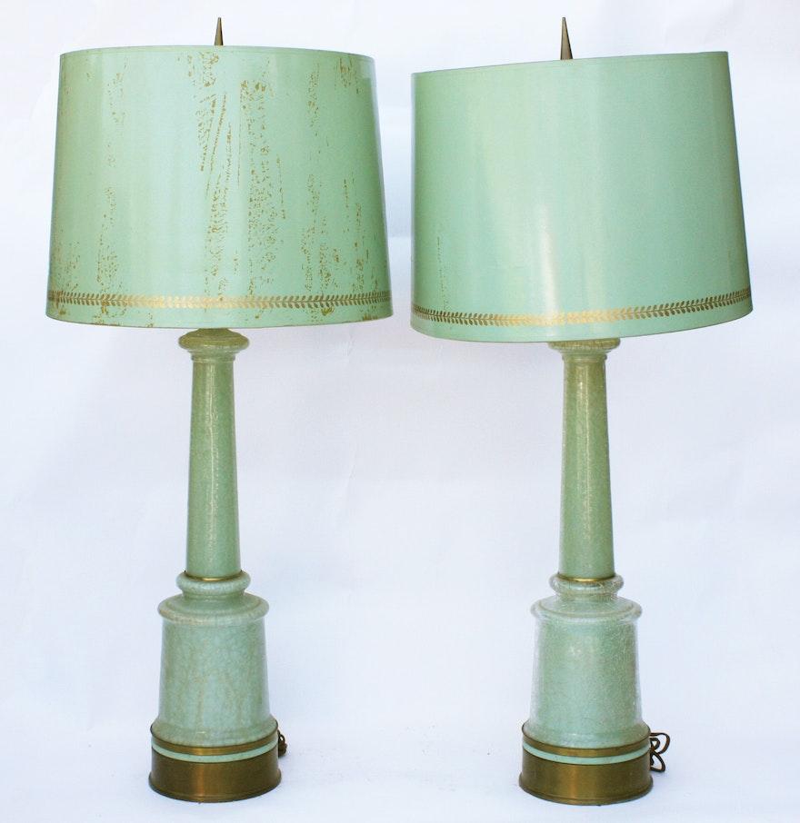Mid century glass table lamps ebth mid century glass table lamps geotapseo Gallery