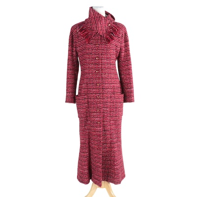 Chanel Tweed Coat Dress with Scarf
