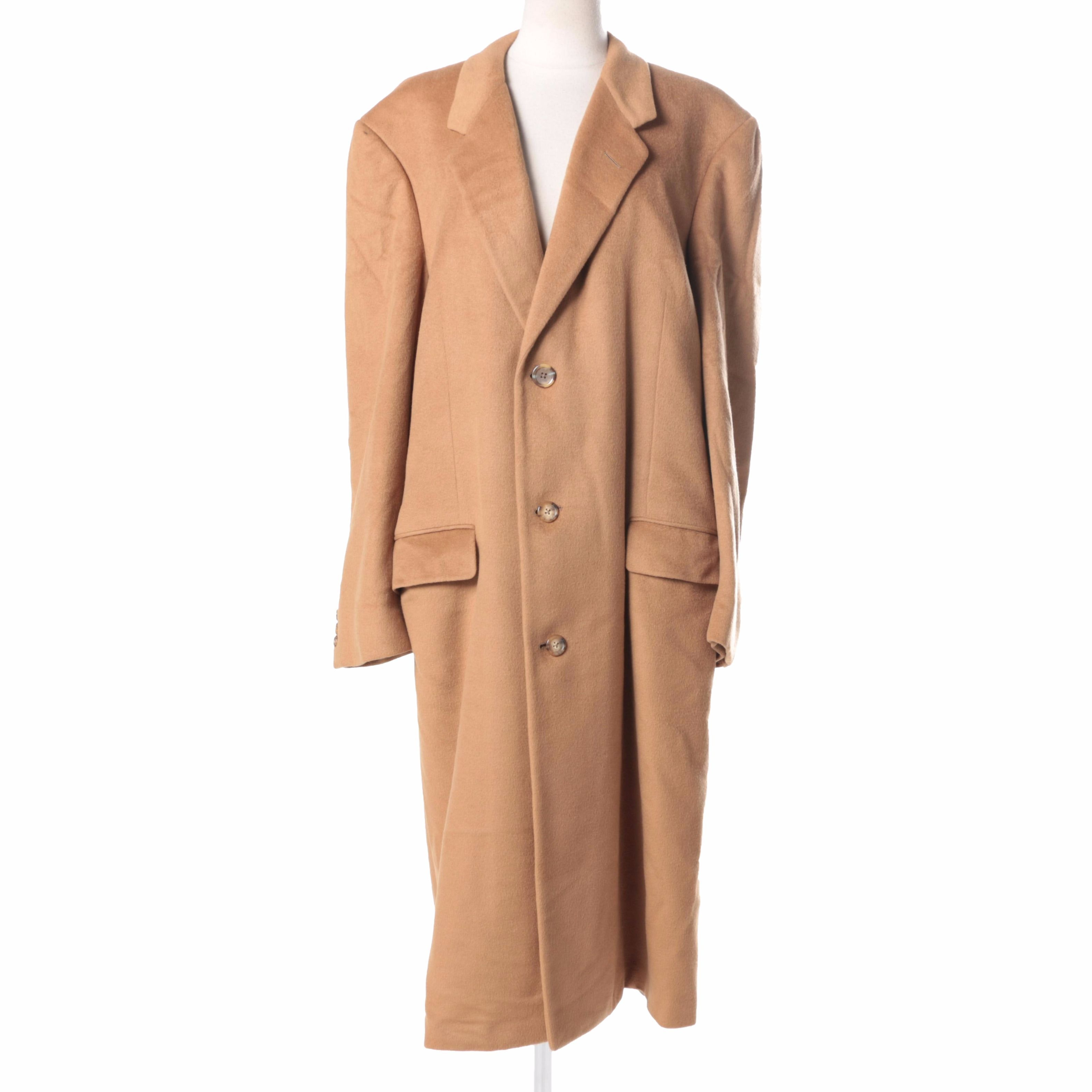 Tan Cashmere Overcoat by Hickey-Freeman