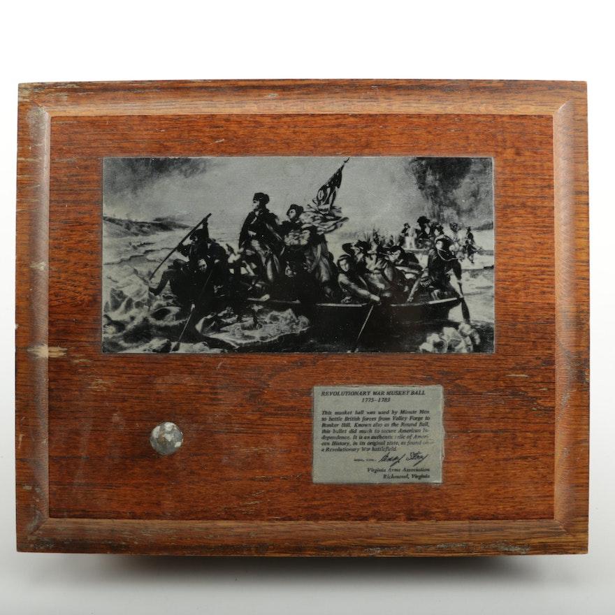 Revolutionary War Musket Ball Decorated Box