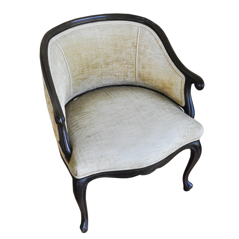 Barrel Back Upholstered Arm Chair