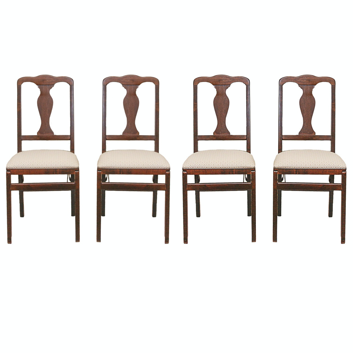 Set of Chippendale Style Folding Dining Chairs