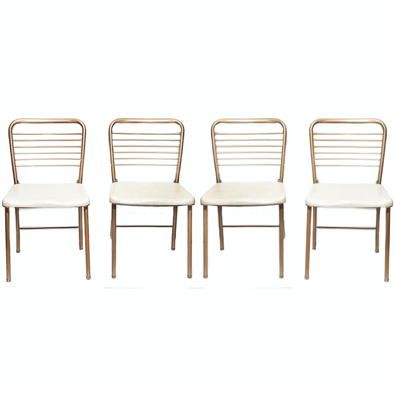 Set of Metal Folding Chairs