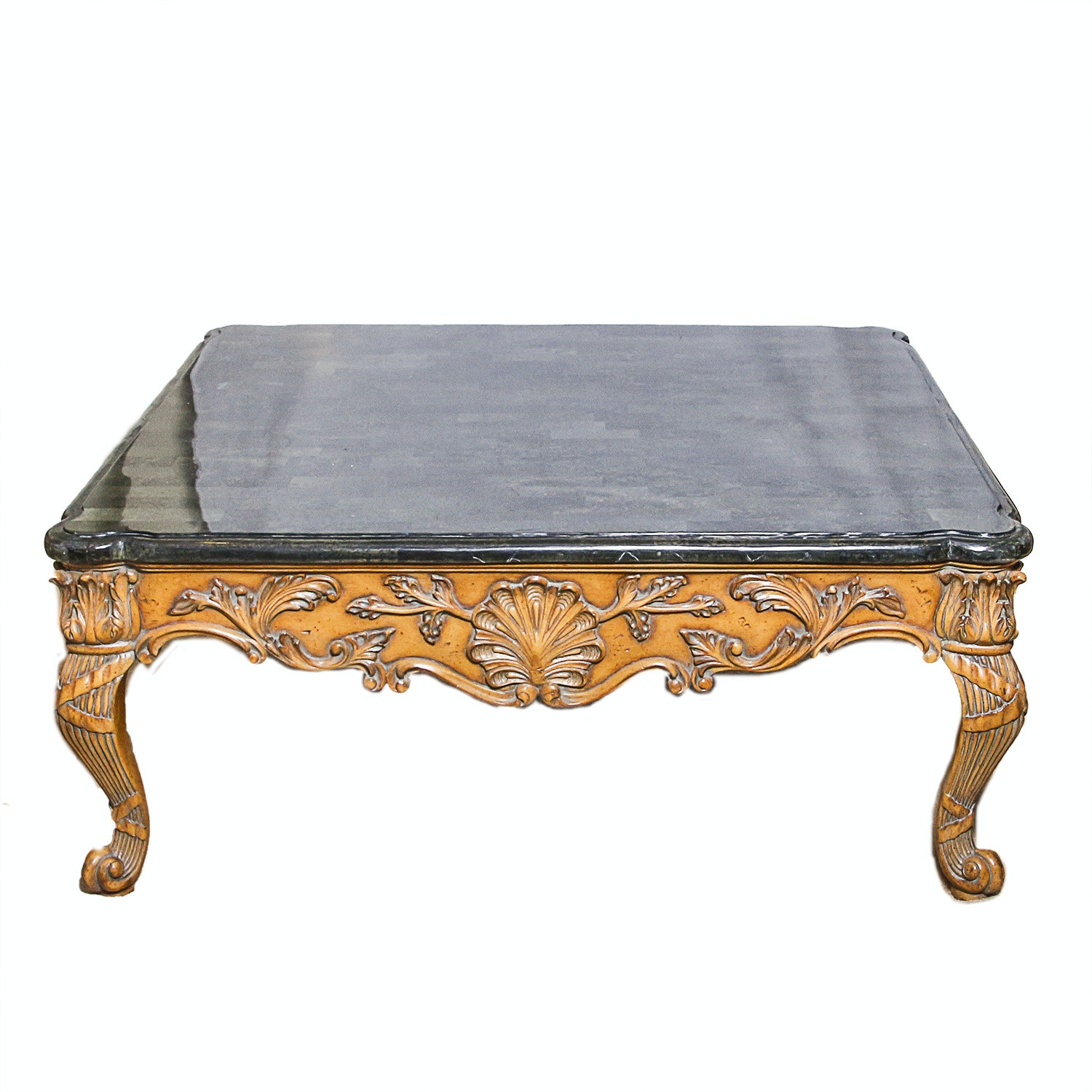 Louis XV Style Marble Top Coffee Table