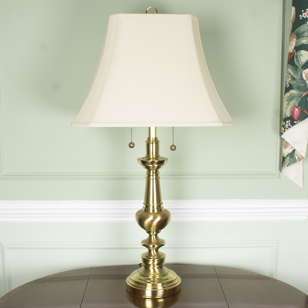 Brass Tone Table Lamp