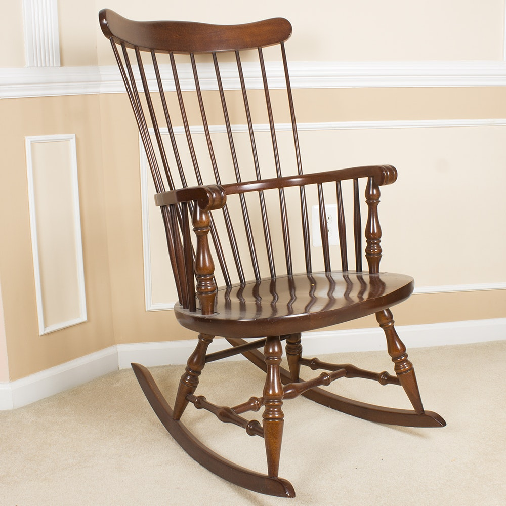 Bow-Back Windsor Style Rocking Chair by Virginia House Furniture