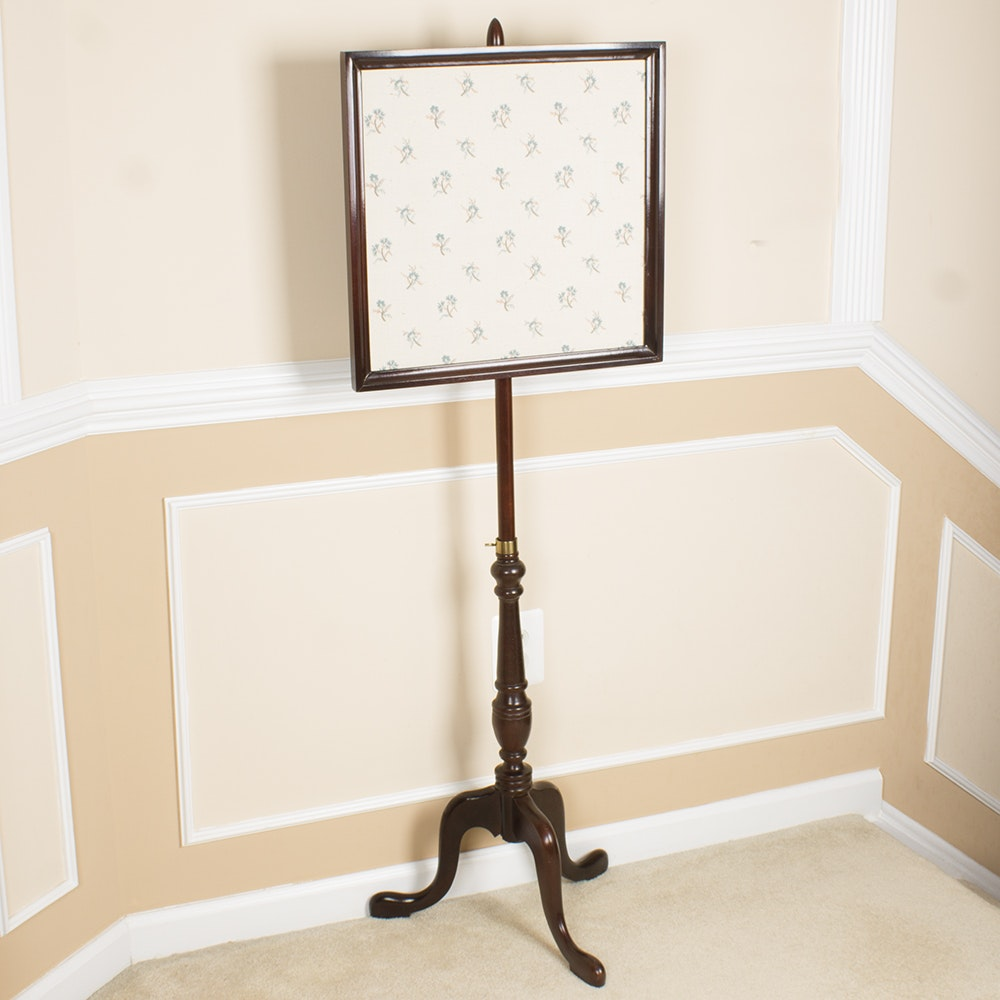 Vintage Wooden Embroidery Fire Screen