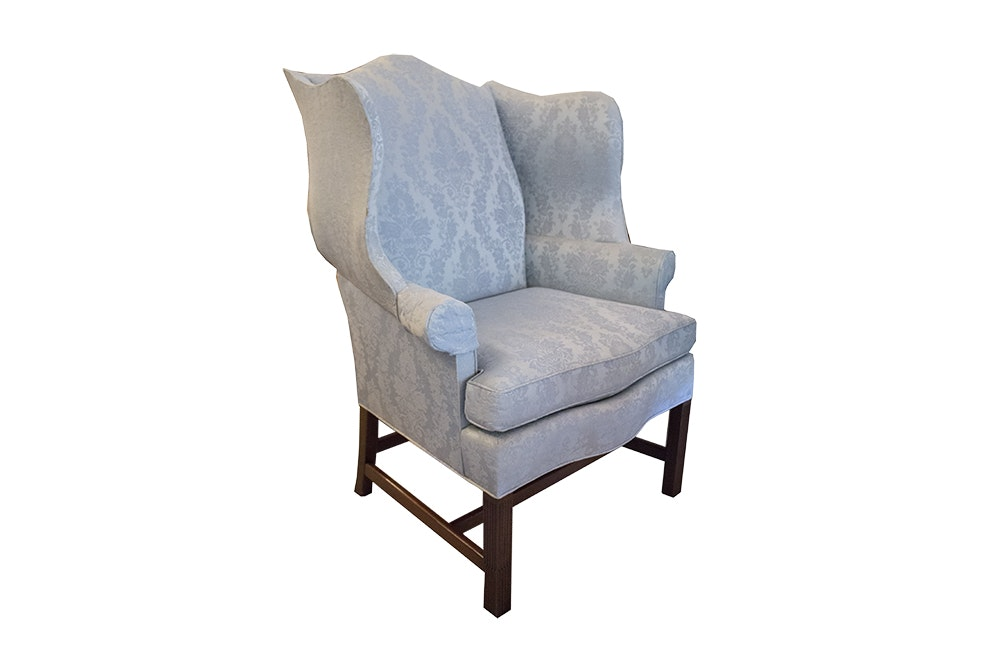 Merveilleux Chippendale Style Wingback Chair By Hickory Chair ...