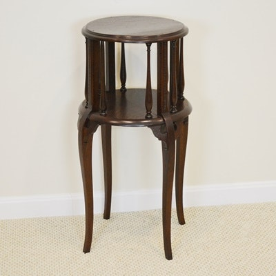 Vintage Circular Oak Side Table