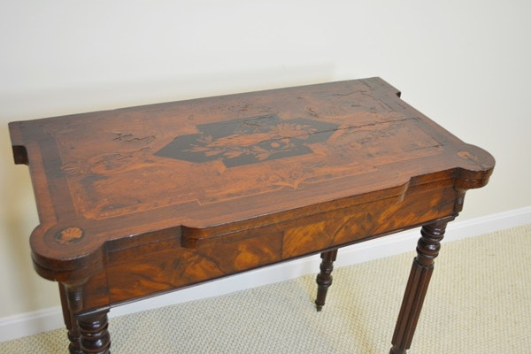 Antique American Federal Style Game Table, Circa 1830-60s