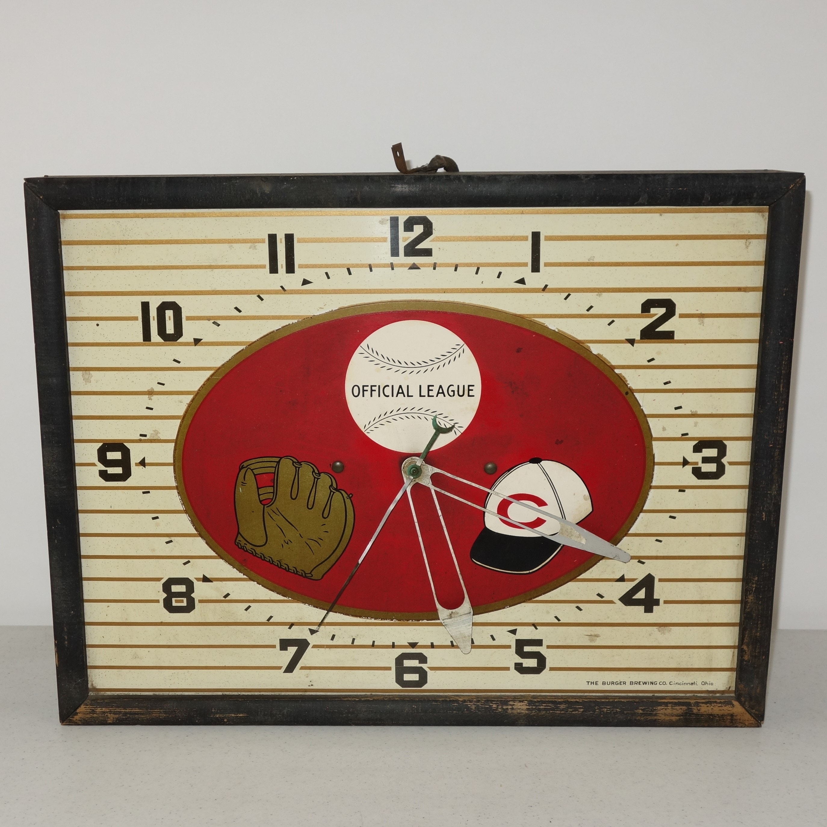 Vintage Burger Brewing Co. Cincinnati Reds Clock