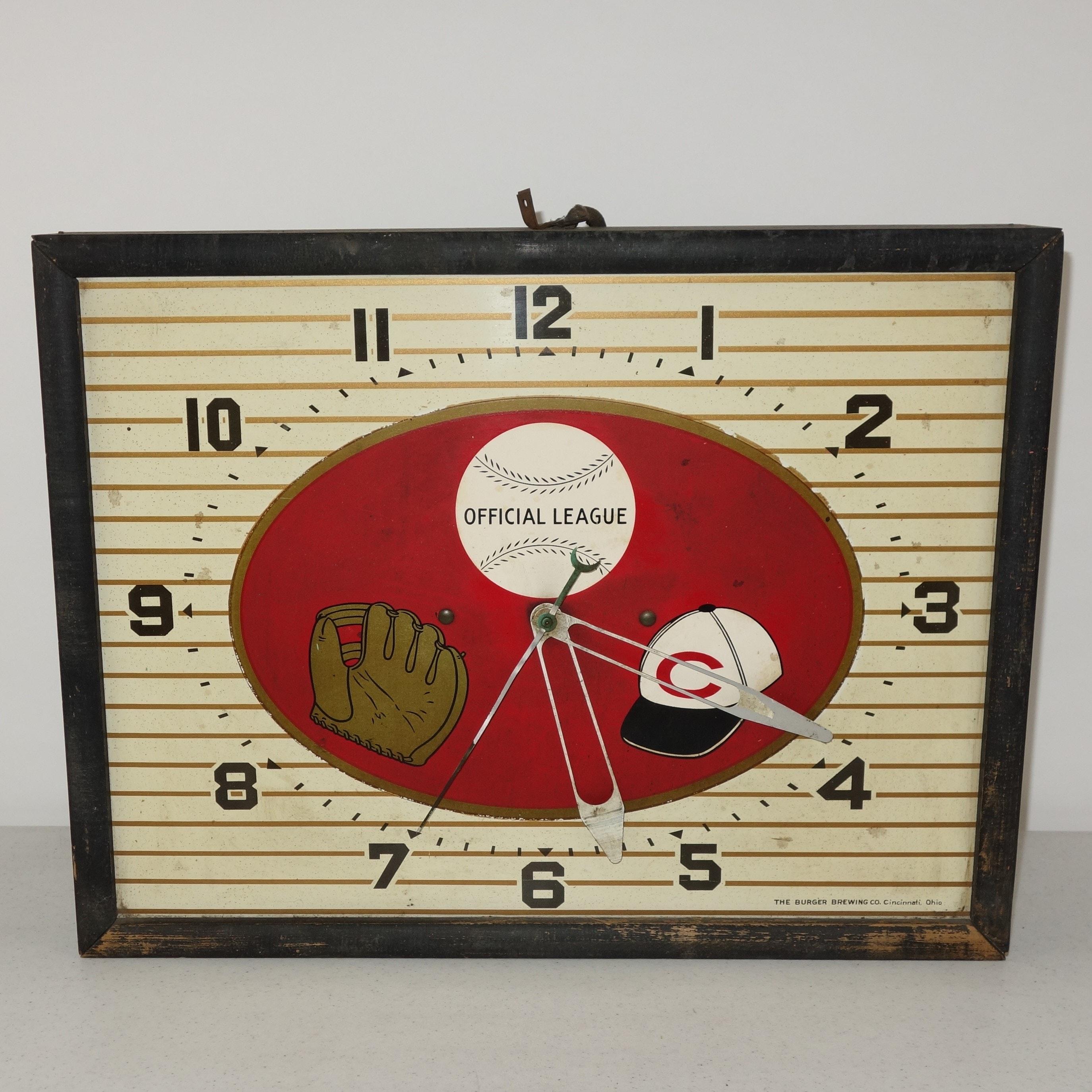Vintage Burger Brewing Co. Cincinnati Reds Clock