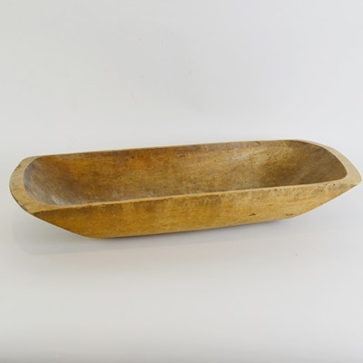 Primitive Wood Dough Bowl
