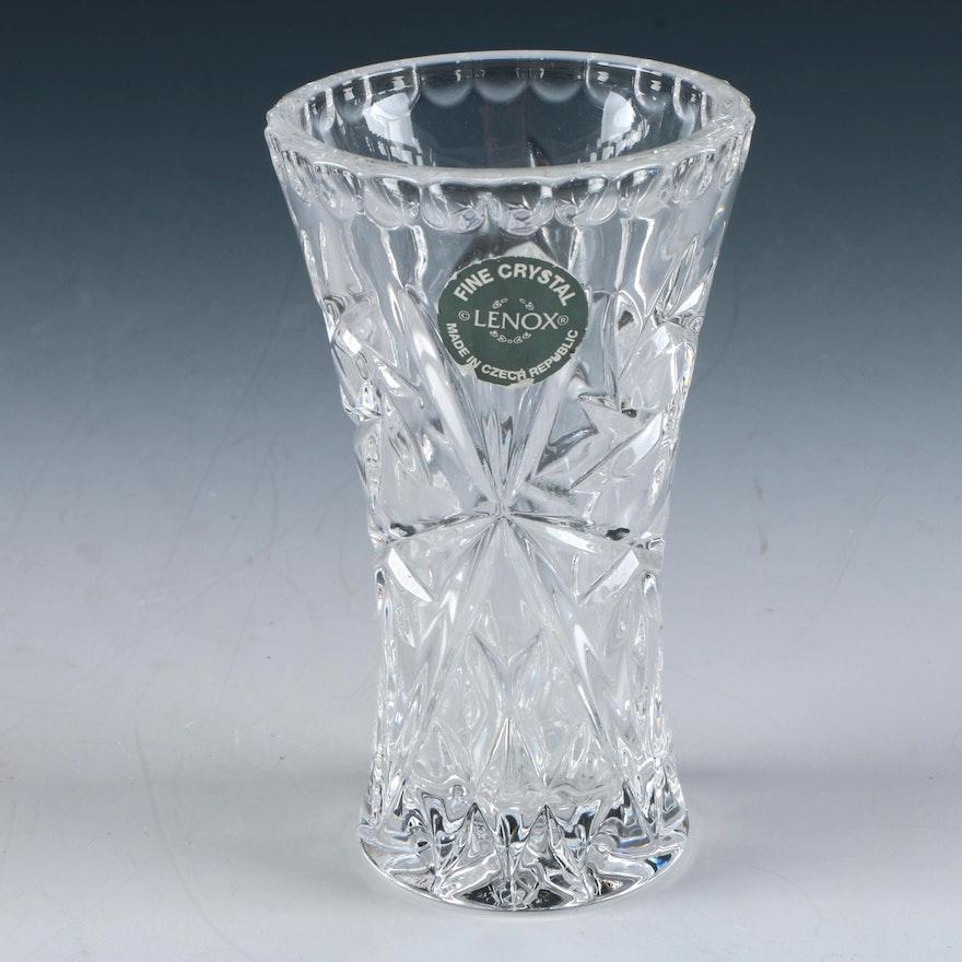 Lenox Crystal Star Pattern Bud Vase Ebth
