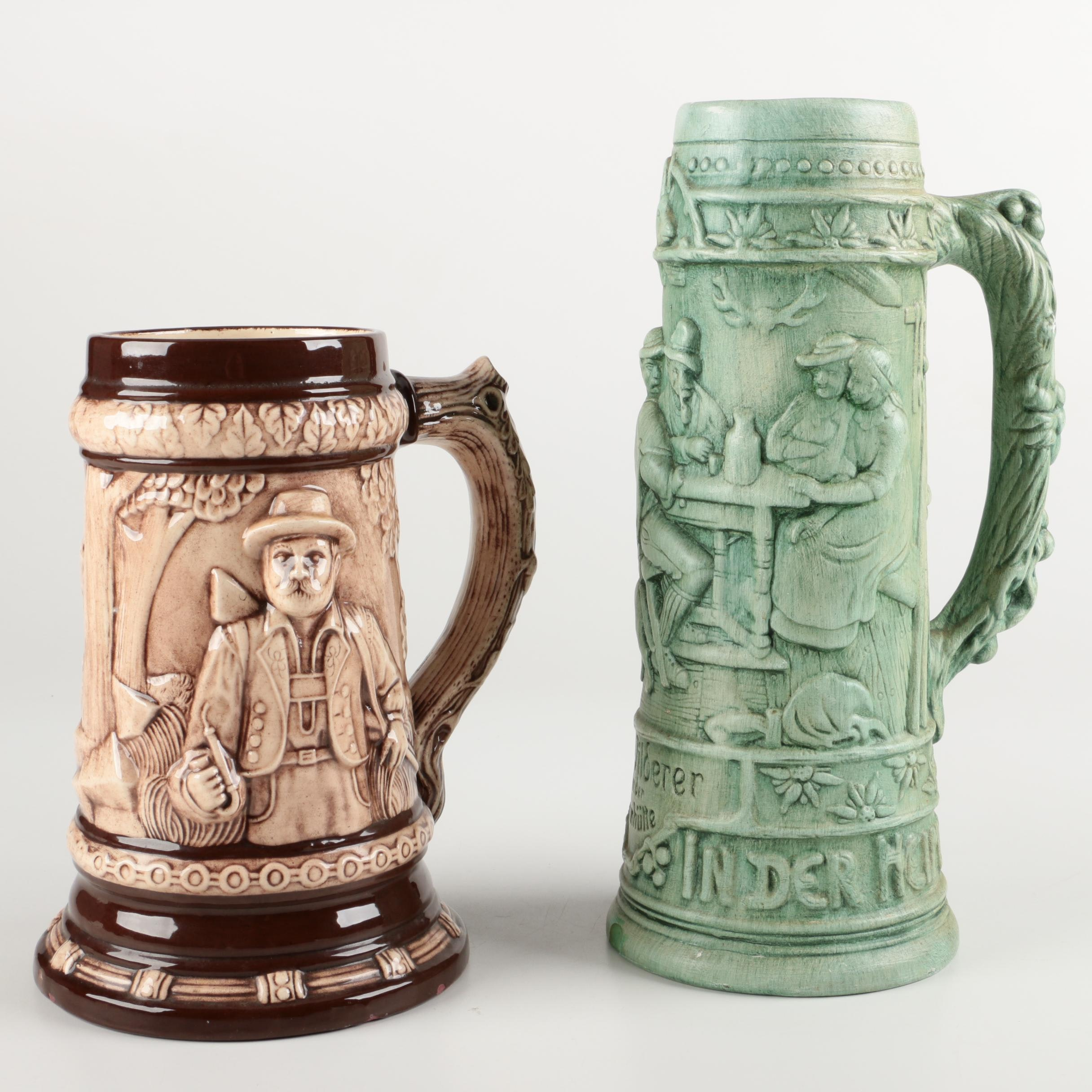 Artisan Made Ceramic Beer Steins