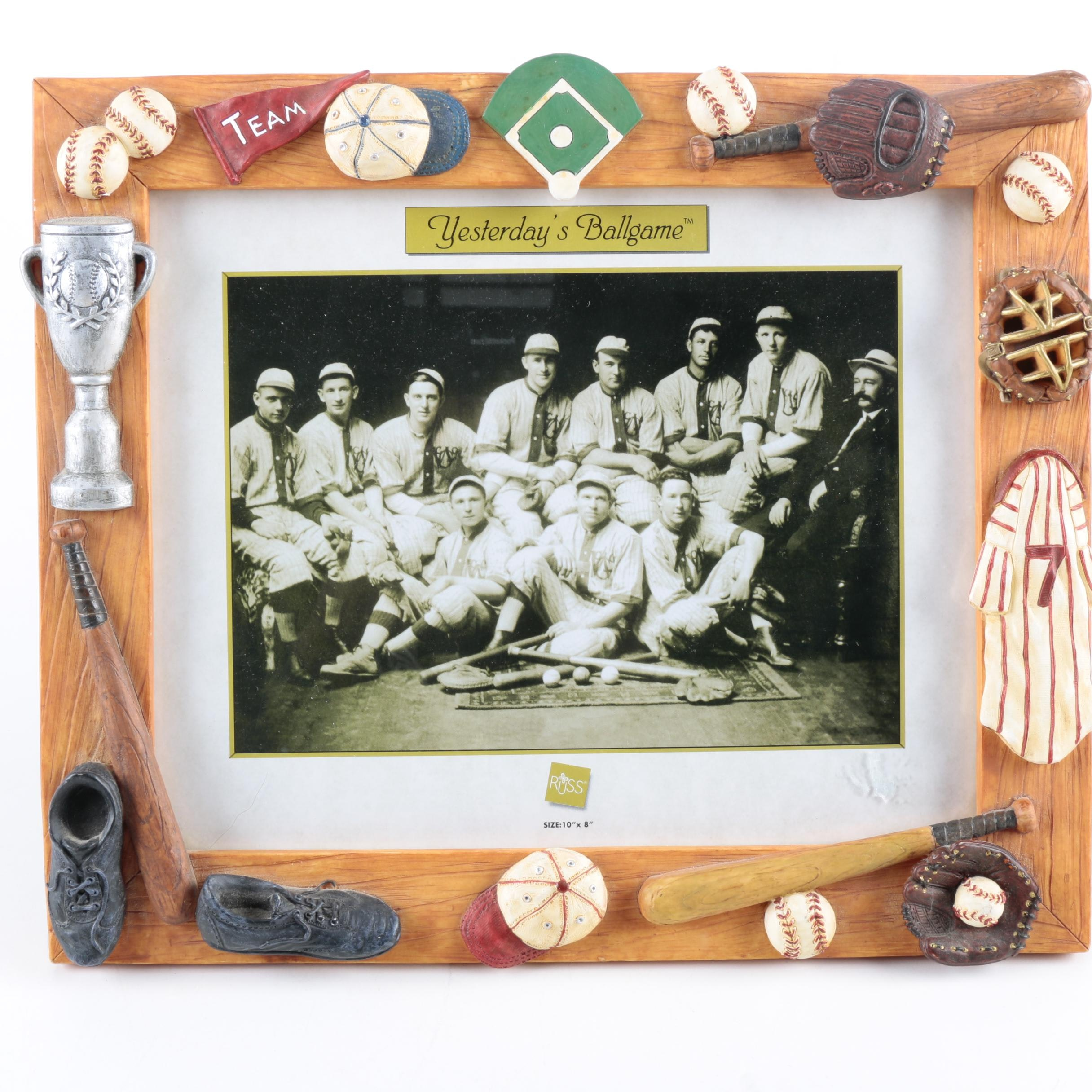 Russ Baseball Themed Picture Frame