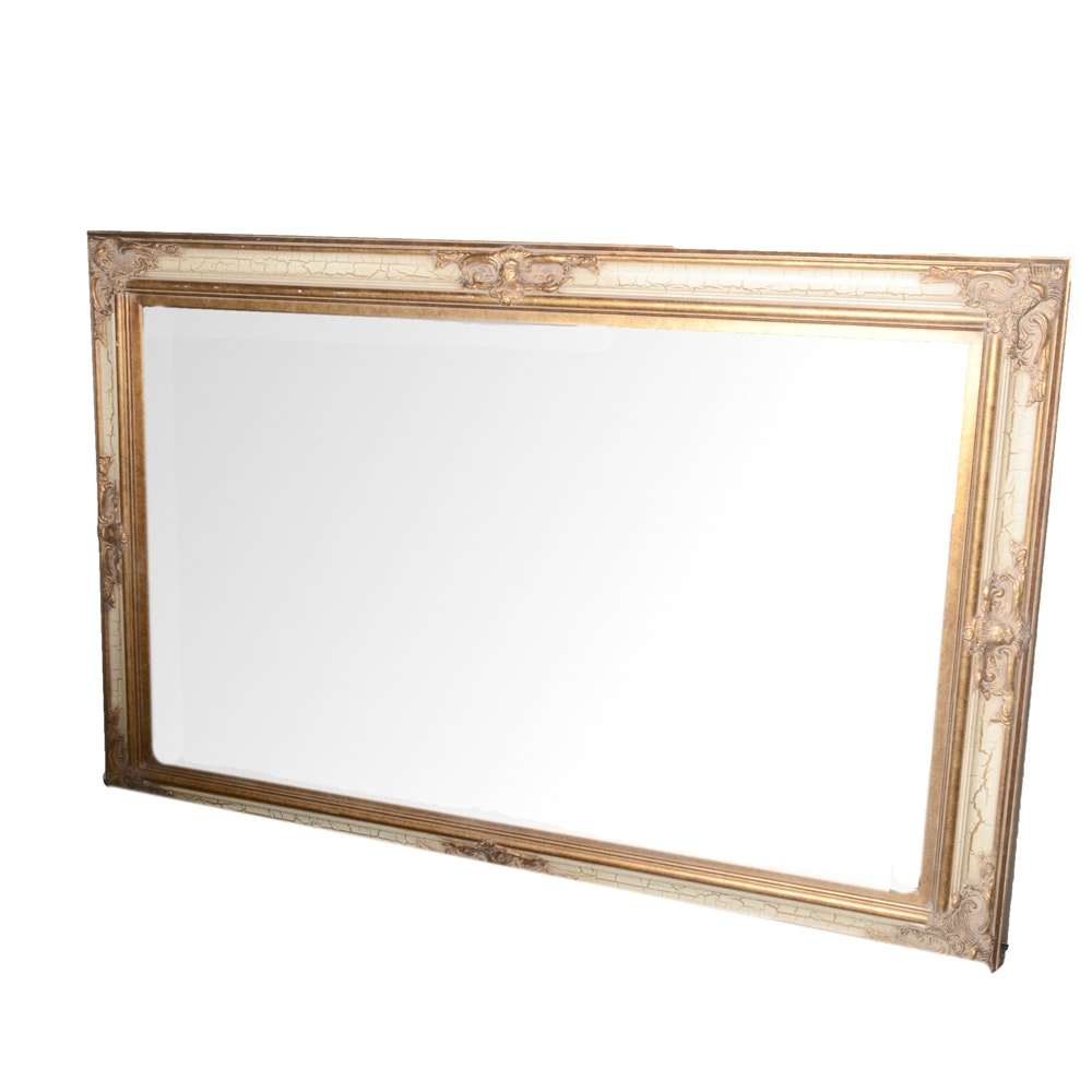 Large-Scale Mirror with Painted Wood Frame