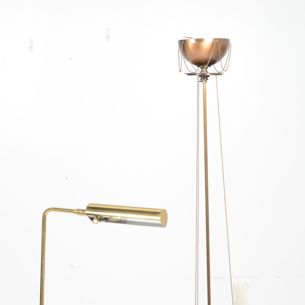 Vintage Floor Lamp Collection, Including Koch and Lowy