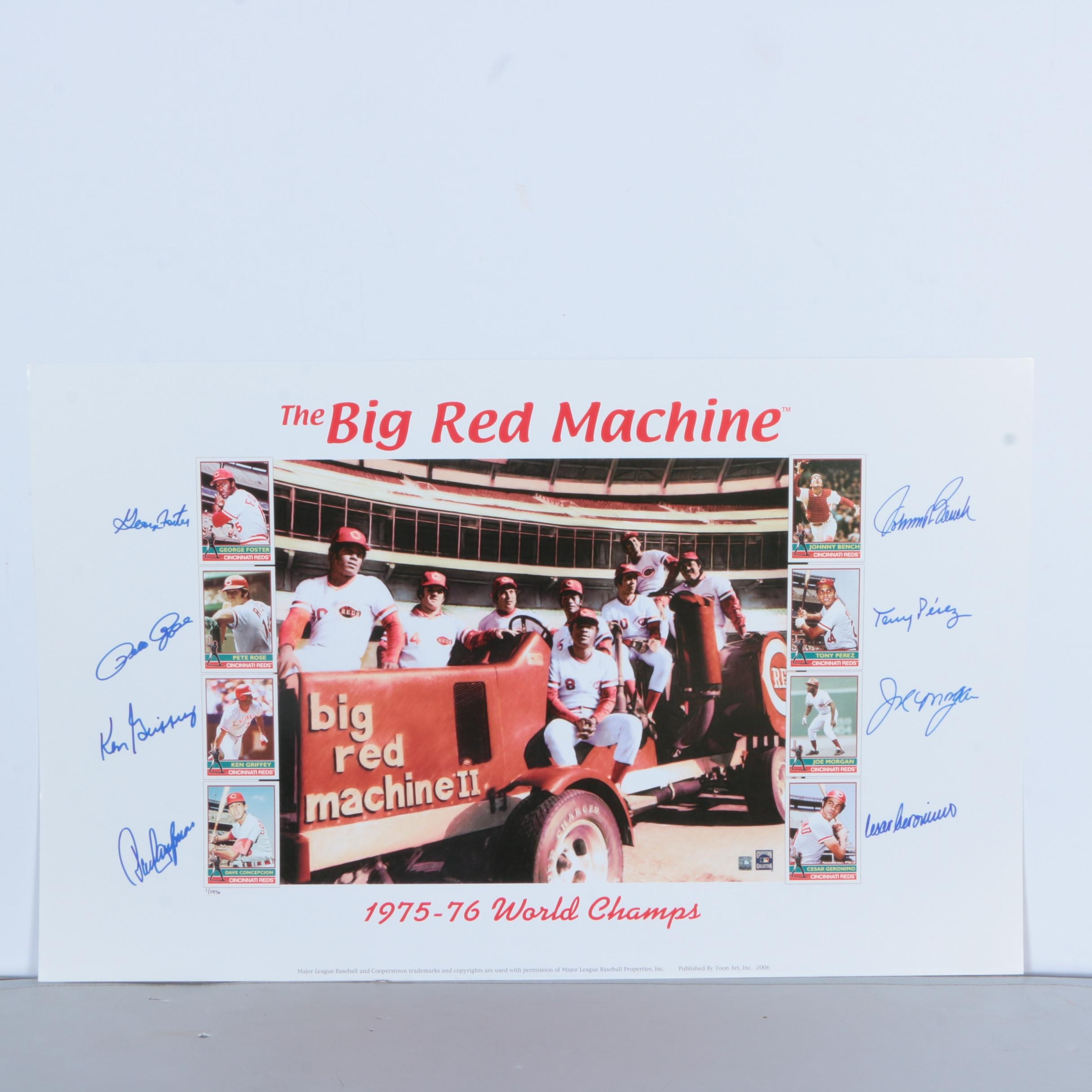 Autographed Limited Edition Offset Lithograph Quot The Big Red