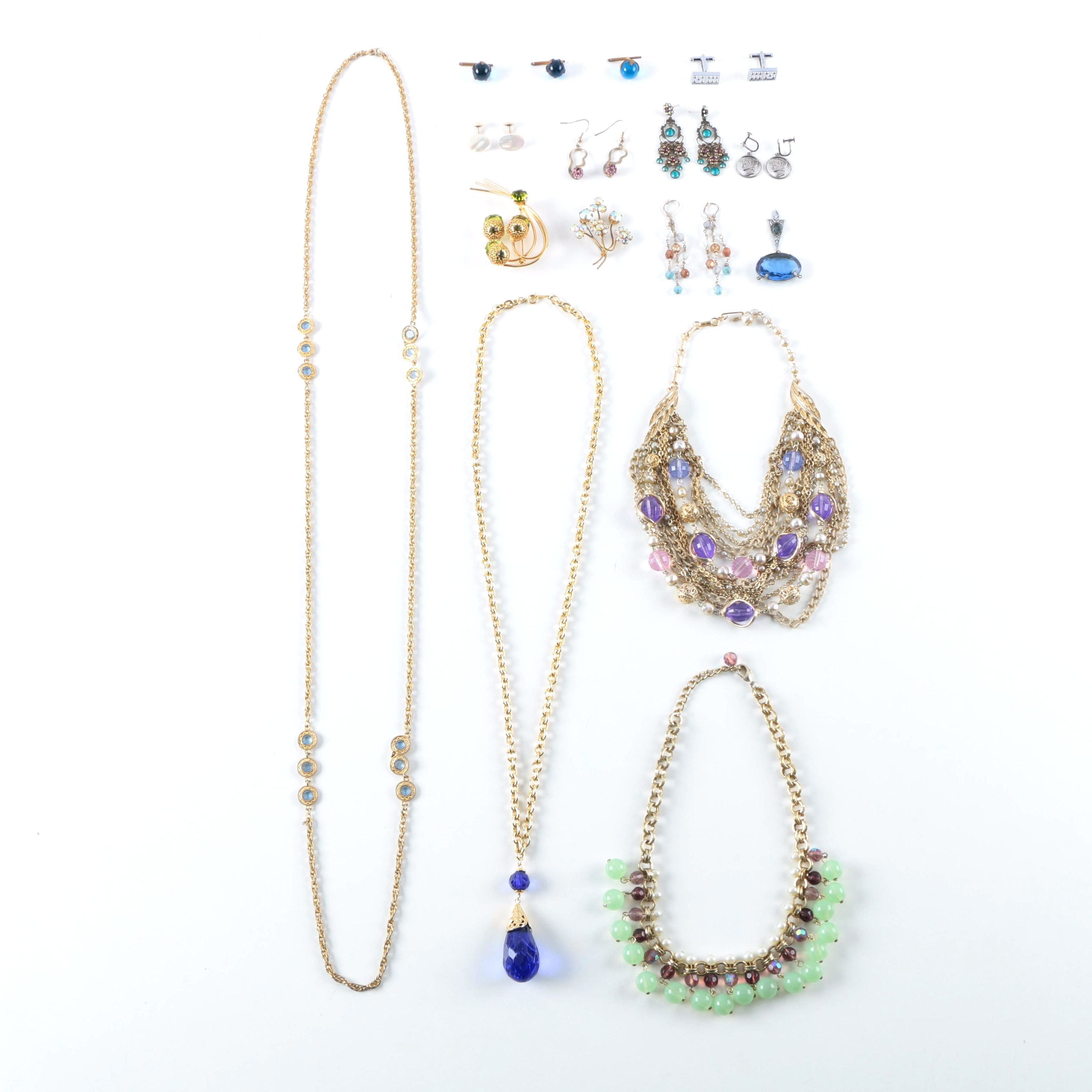 Assorted Costume Jewelry Including Sarah Coventry