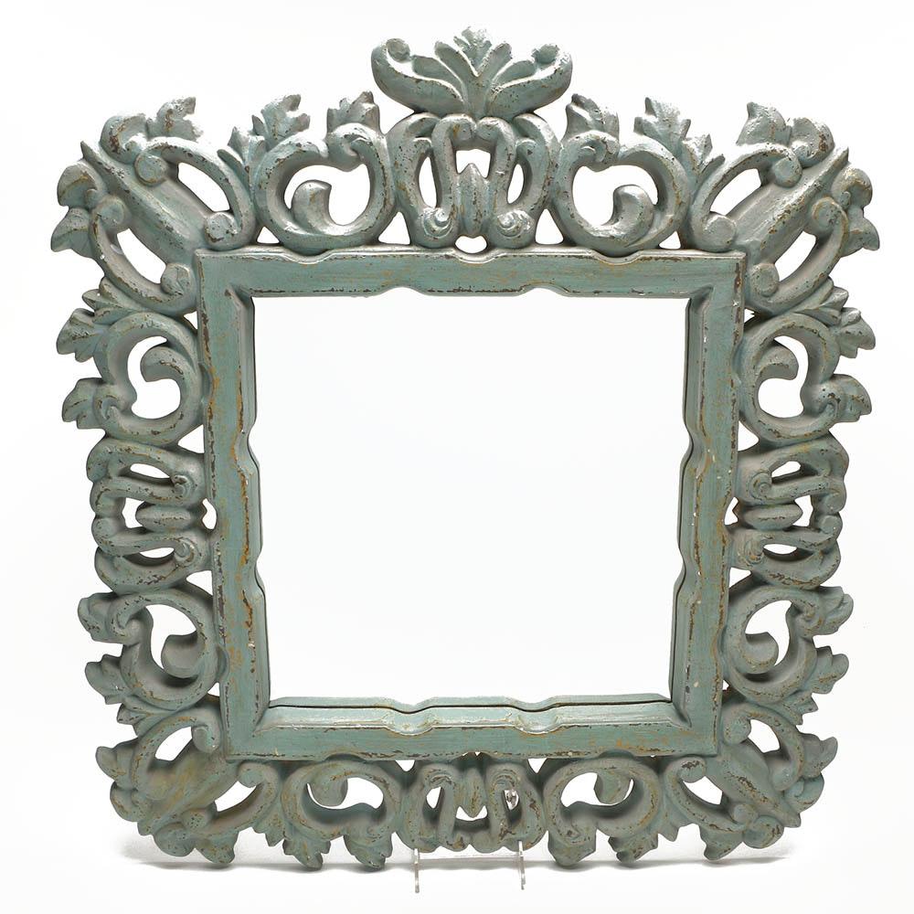 Ornately Framed Square Mirror
