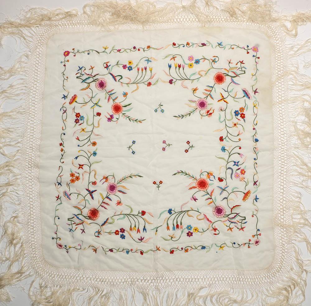 Embroidered Piano Shawl