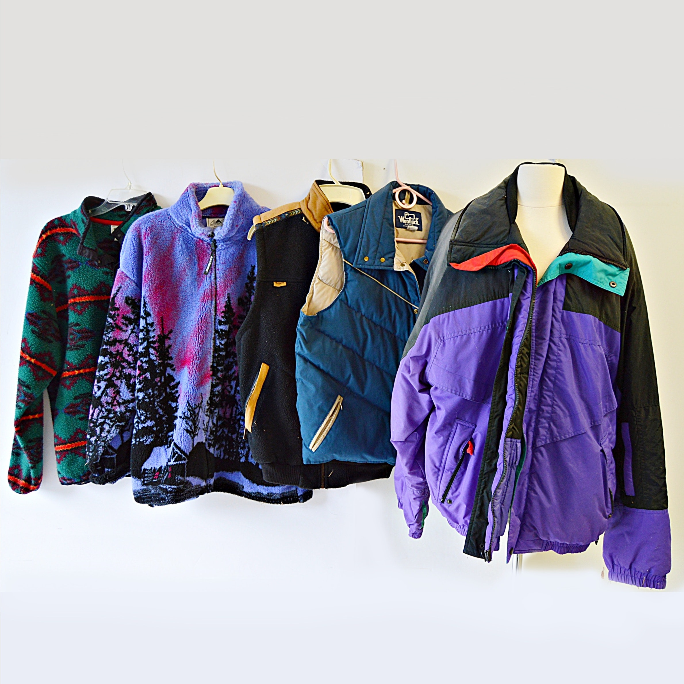 Winter Outerwear with Jacket, Vests and Fleeces