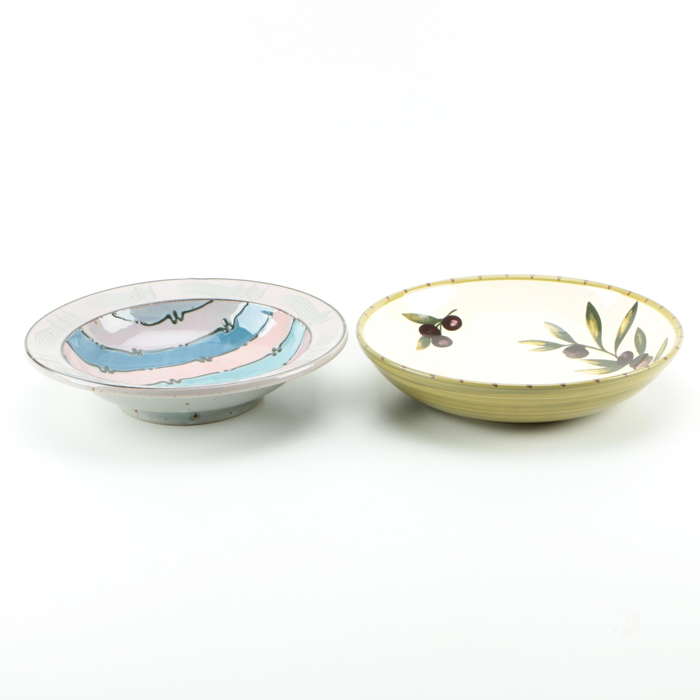 Hand-Painted Ceramic Bowls Featuring Williams-Sonoma