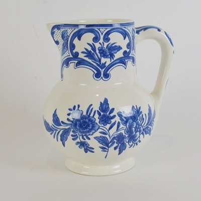 "Tiffany & Co. ""Tiffany Delft"" Ceramic Pitcher"