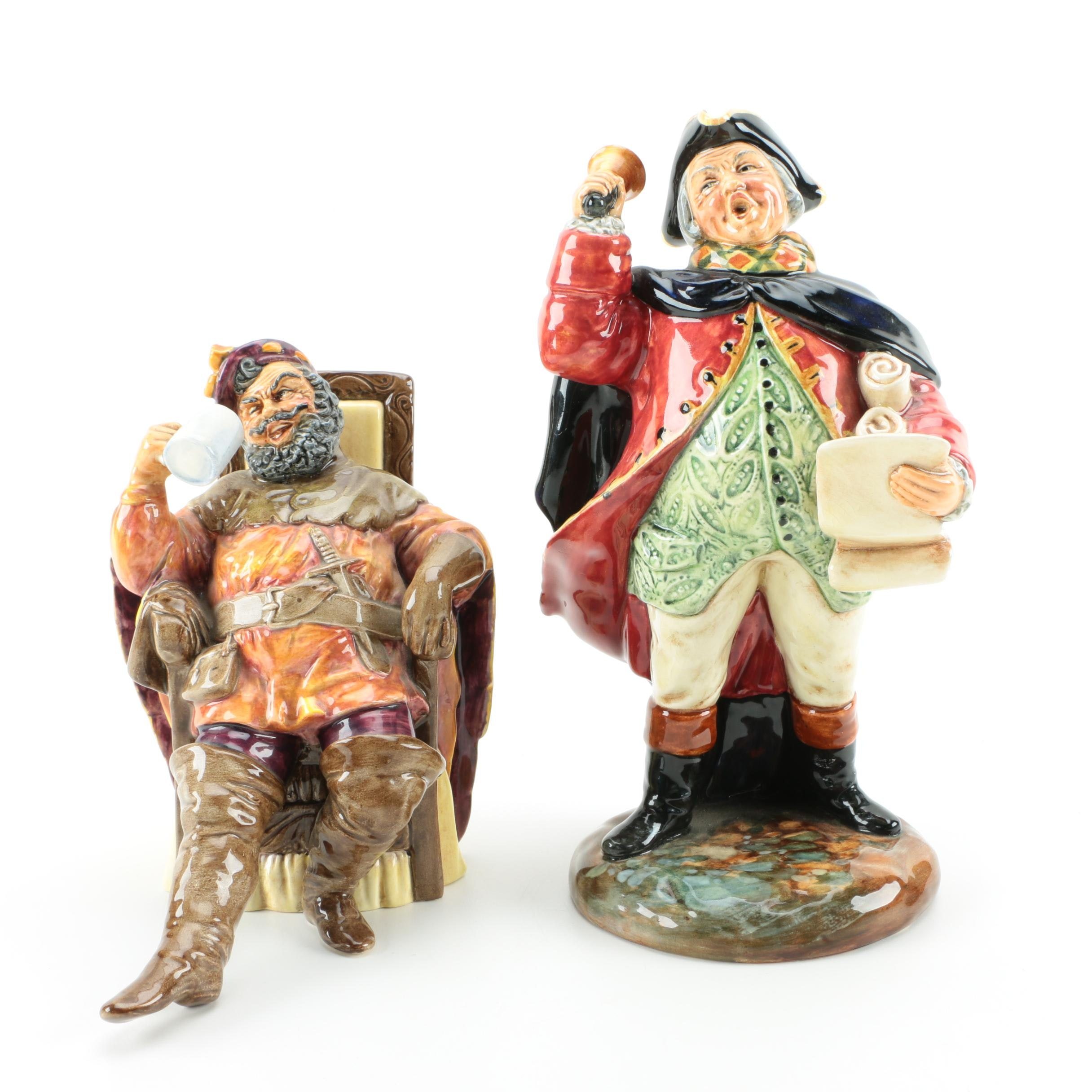 """Royal Doulton Figurines Including """"The Foaming Quart"""""""