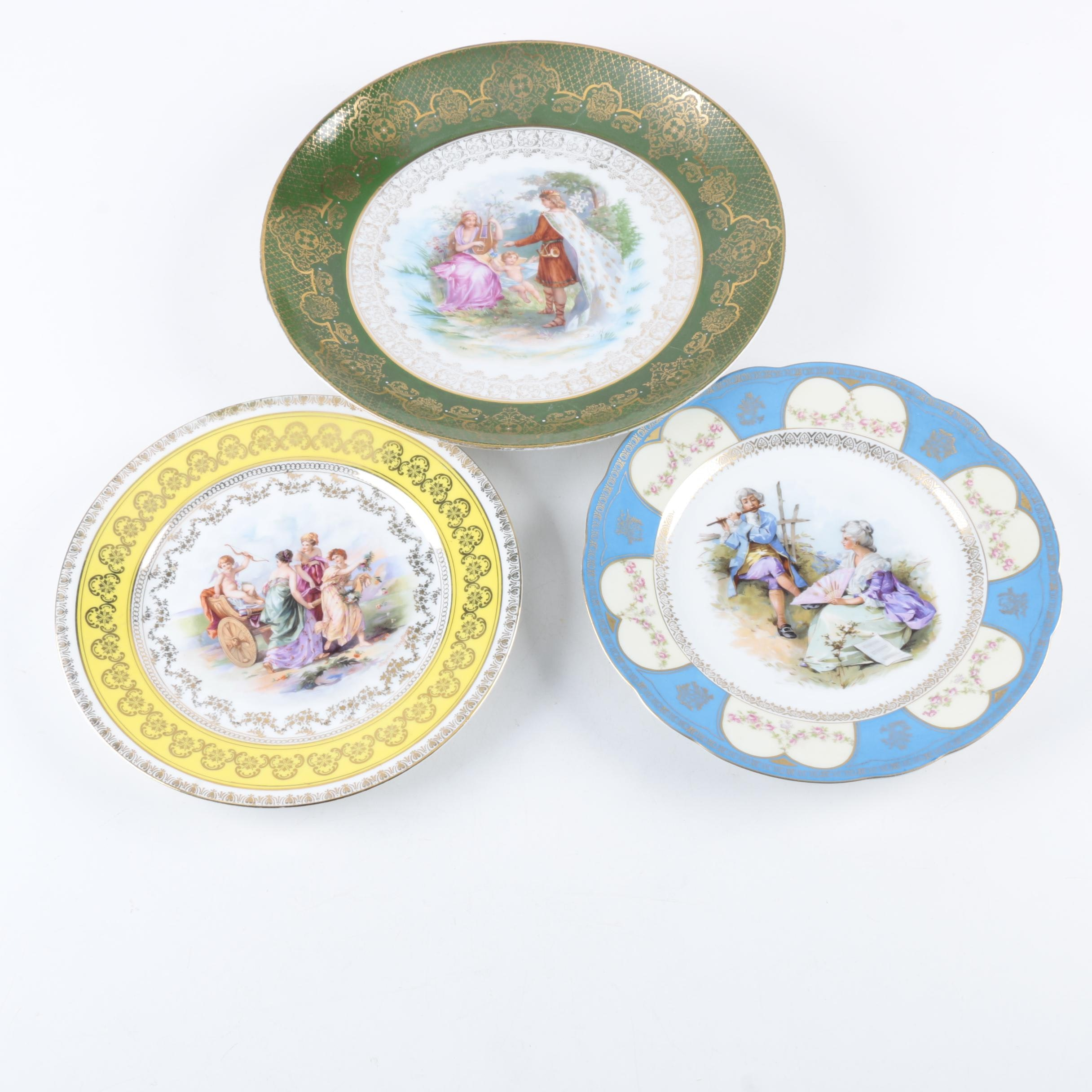 Vintage Austrian and German Porcelain Plates