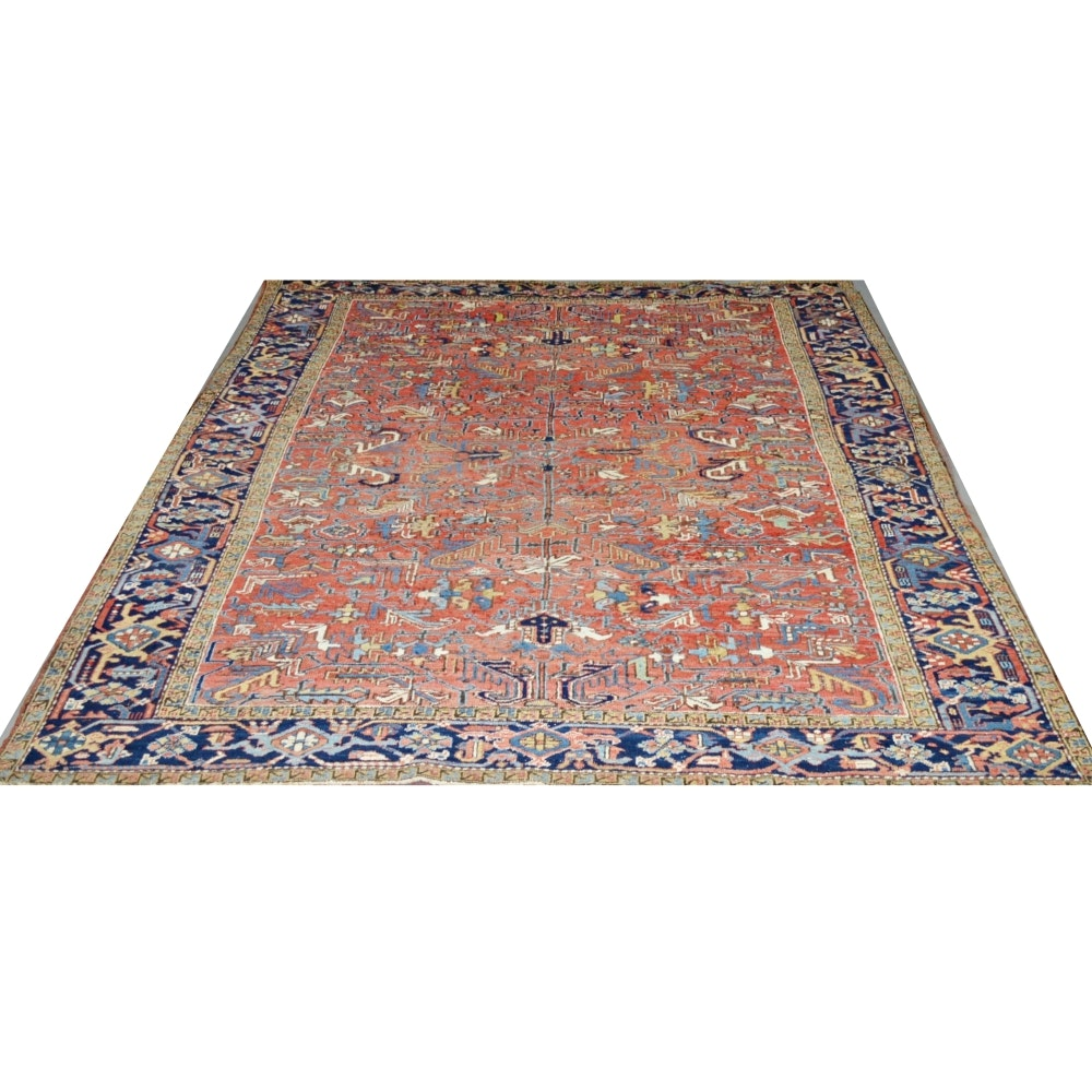 Hand-Knotted Vintage Turkish or Kurdish Wool Area Rug