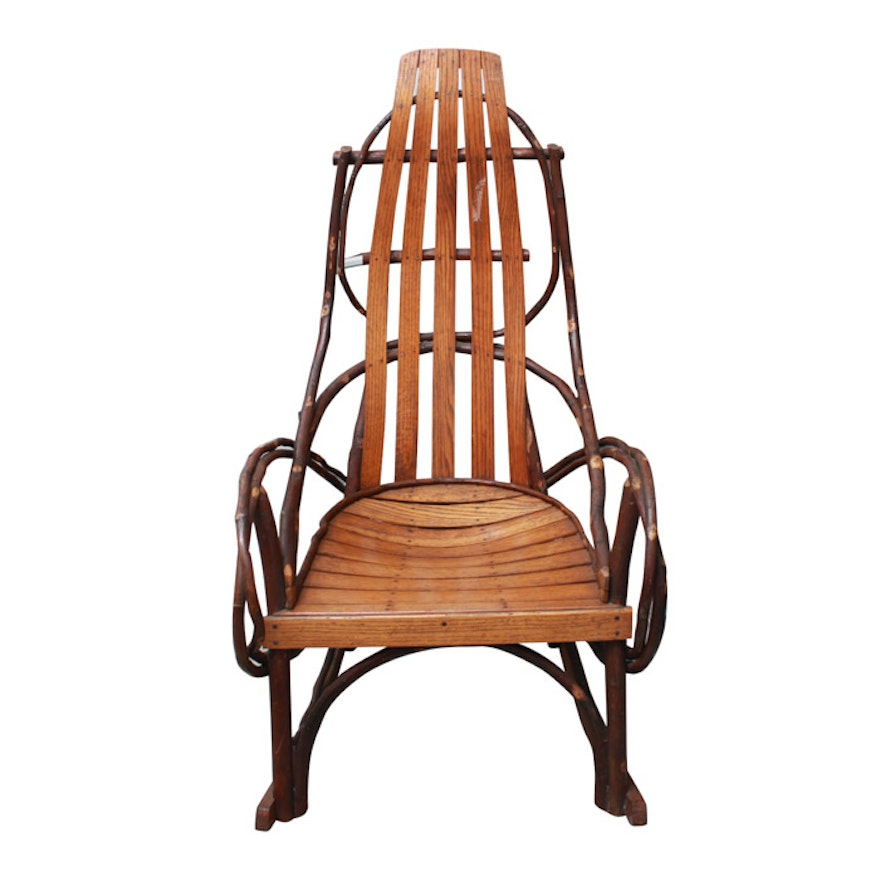 Amish Bentwood Rocking Chair Ebth