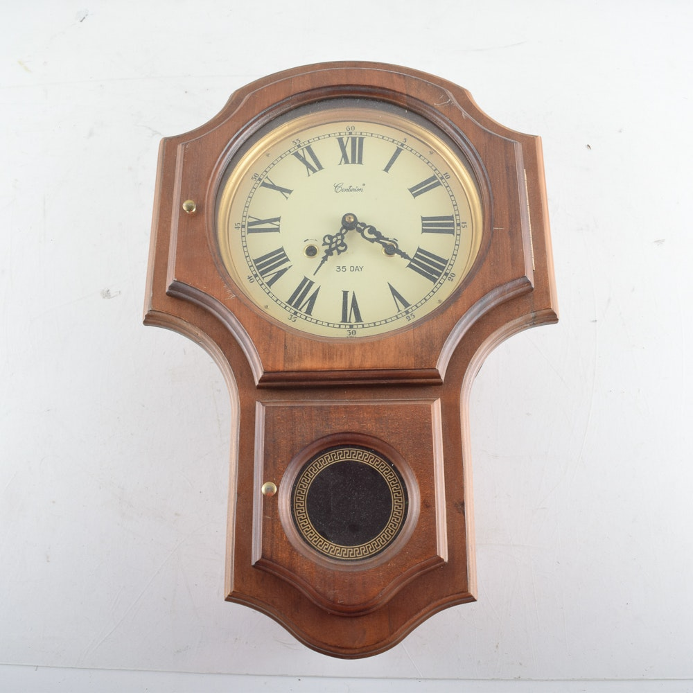 Centurion 35-Day Regulator Style Wall Clock