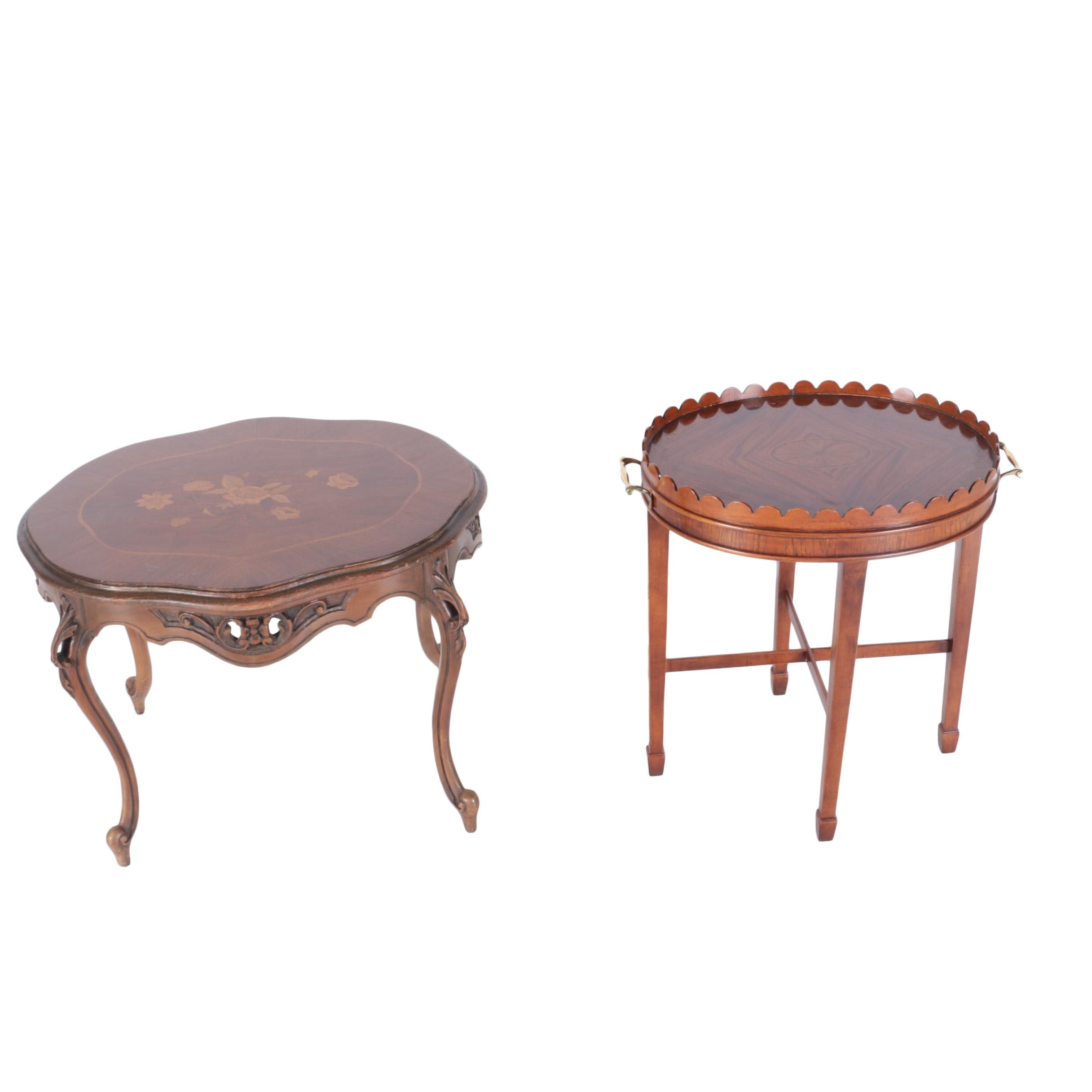 Louis XV Style Side Table and Federal Style Side Table