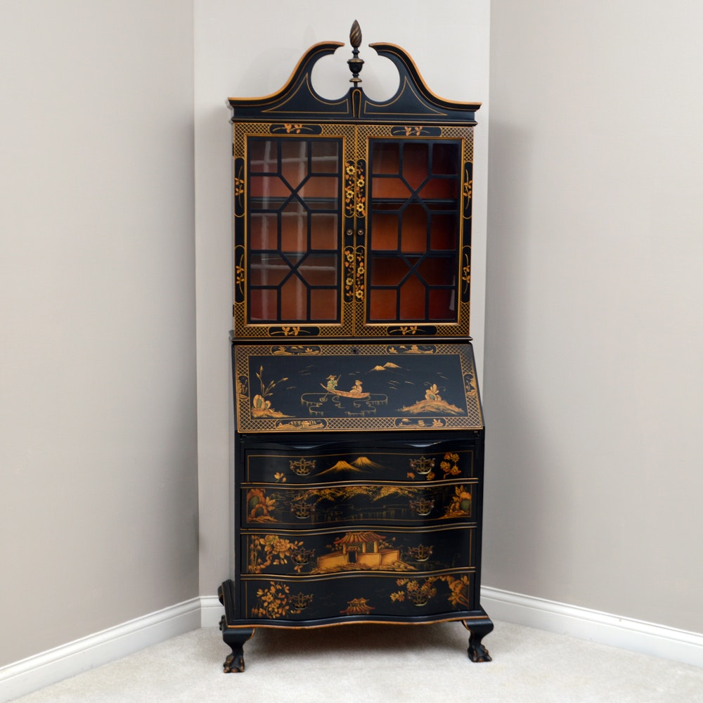 Chinoiserie Federal Style Secretary
