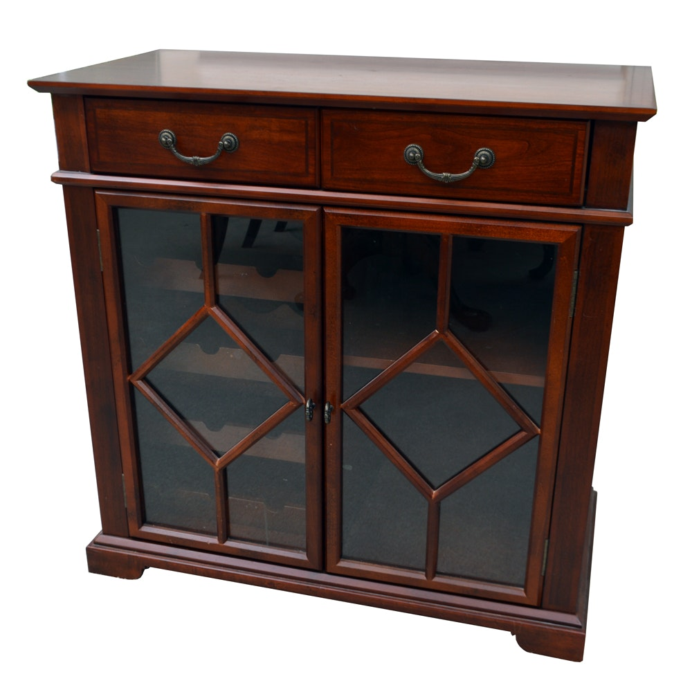 Server Cabinet with Built-In Wine Rack