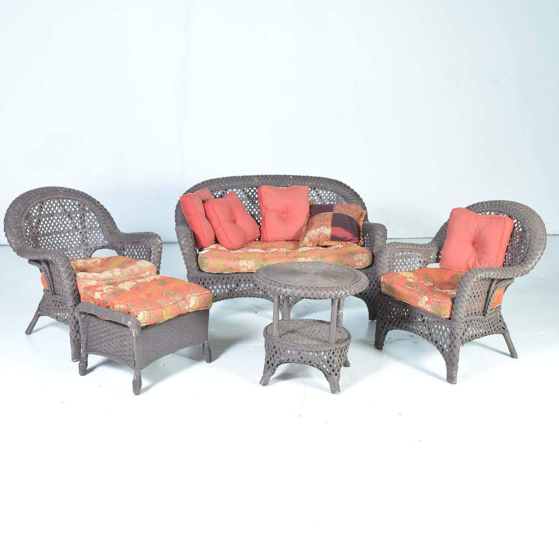 Set of Woven Patio Furniture
