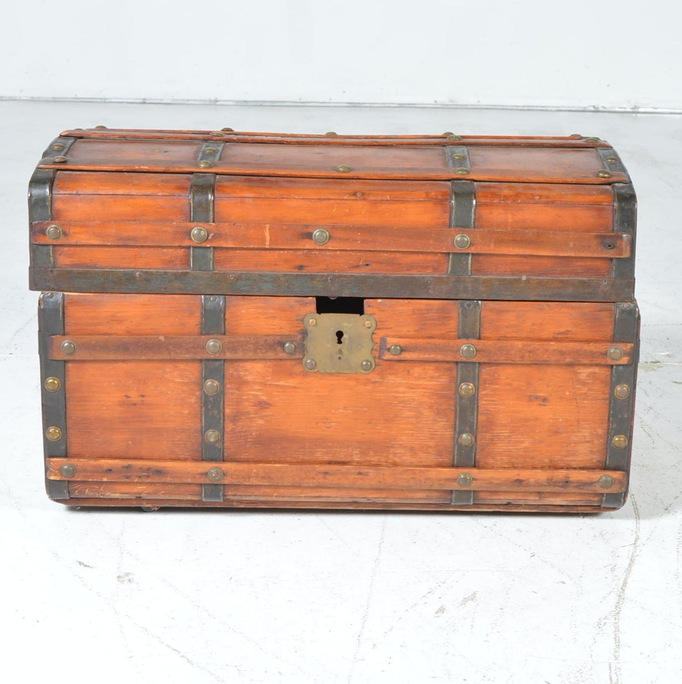 Small Vintage Wood Trunk