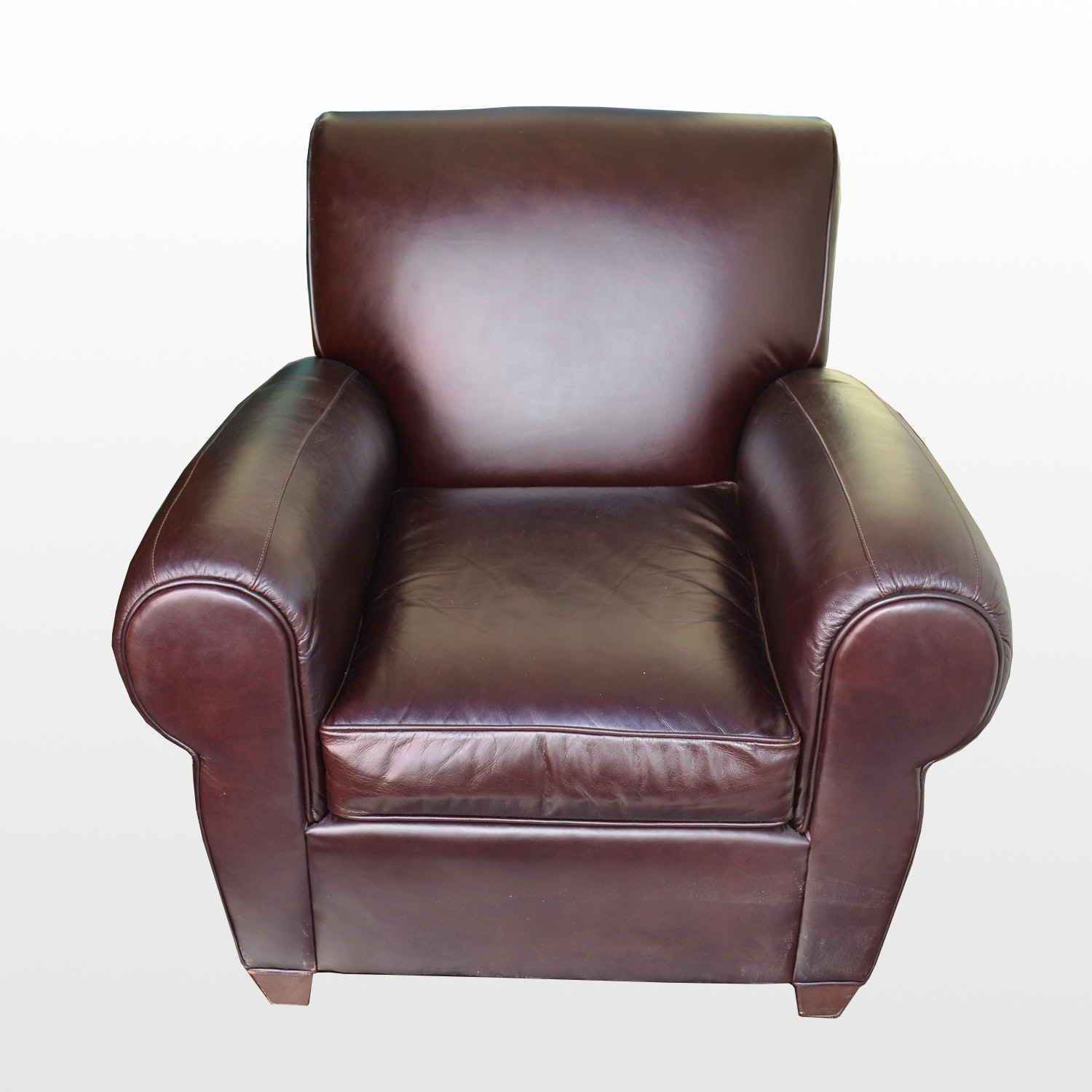 Pottery Barn Leather Club Chair