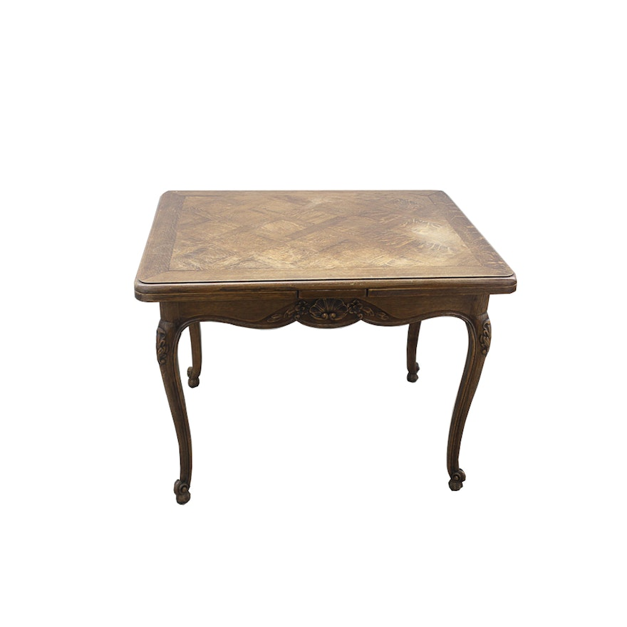 Louis Xv Style Dining Table With Pull Out Extensions