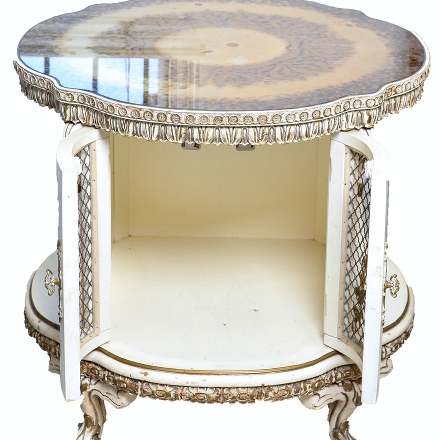 cream colored wooden end table - Cream Colored End Tables
