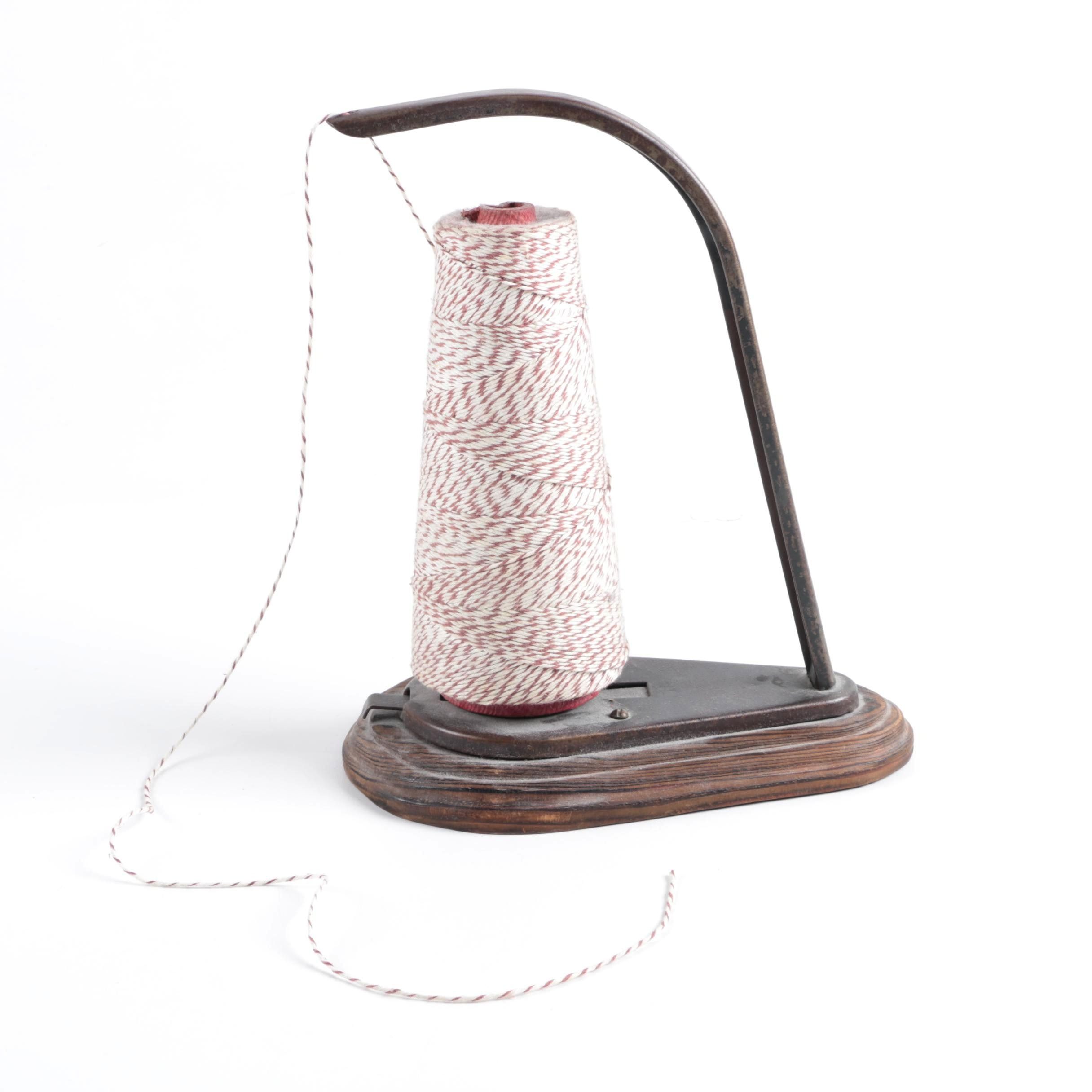 Wood and Metal Thread Stand