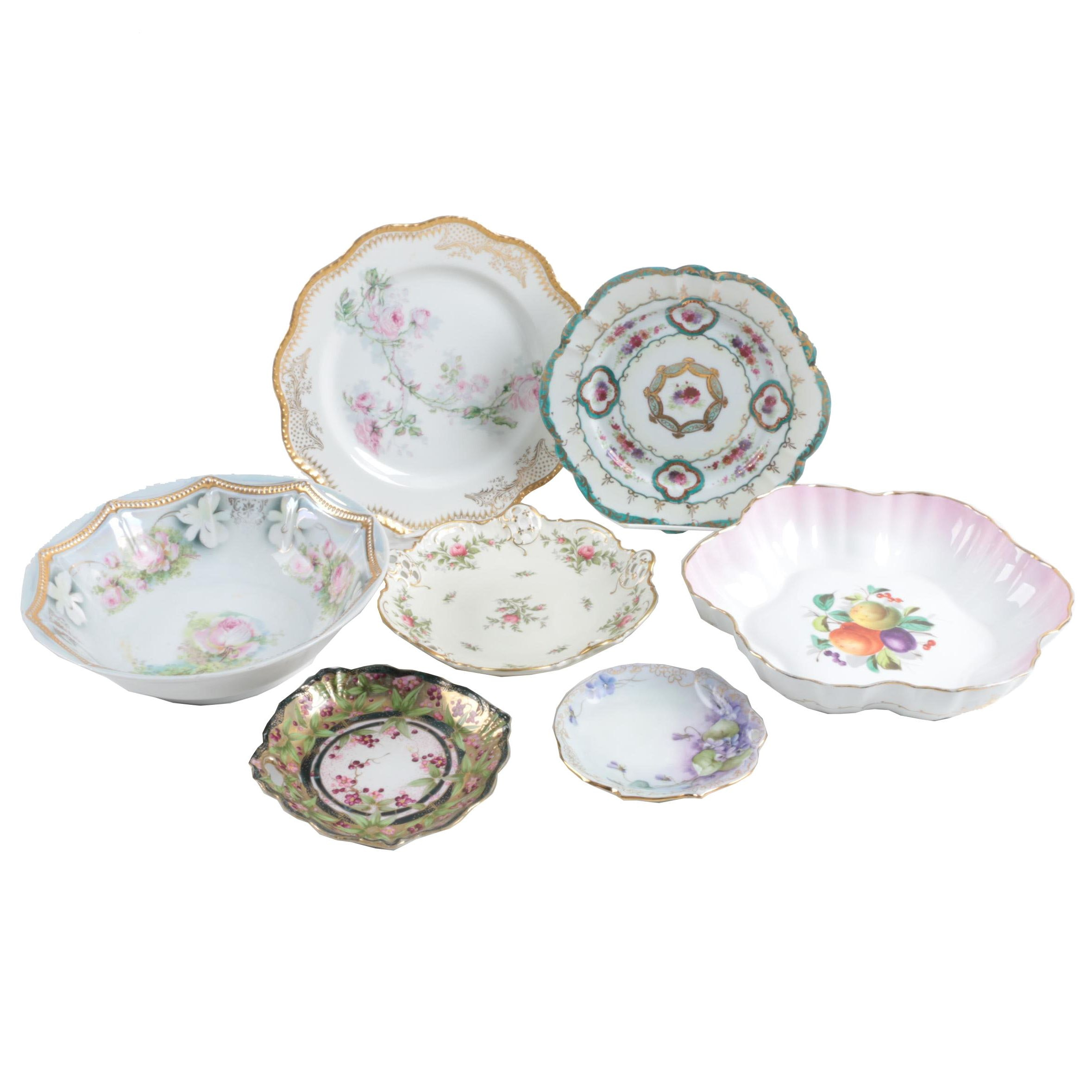 Assortment of Hand-painted Porcelain Including Nippon